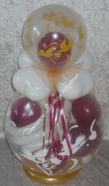 verpackungsballon hochzeit diverse farben geschenk im ballon geld. Black Bedroom Furniture Sets. Home Design Ideas