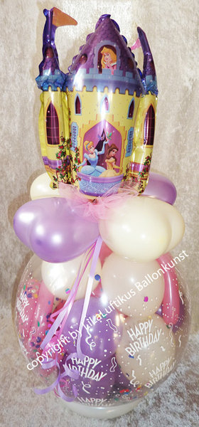 geschenk ballon geburtstag prinzessin geschenk im ballon geschenk. Black Bedroom Furniture Sets. Home Design Ideas