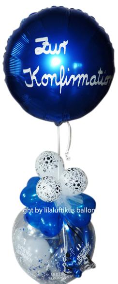 Ballon Fussball Blau Weiss Plus Ballon Schwebend