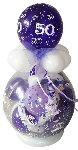 Verpackungsballon Runden Geburtstag Lila Flieder Geschenk Ballon