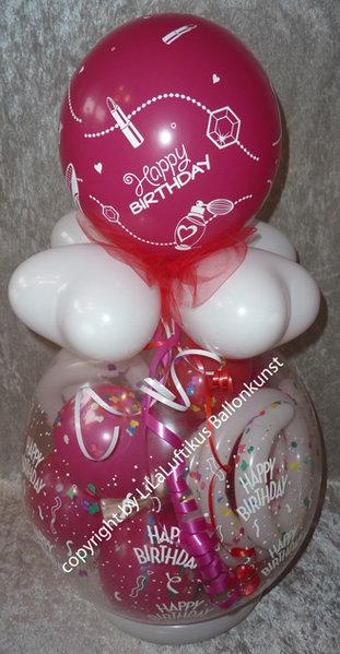 geschenk ballon geburtstag wellness geschenkverpackung gutschein