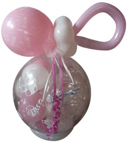 Geschenk Ballon Geburt Taufe Schnulli Geschenkverpackung Geld