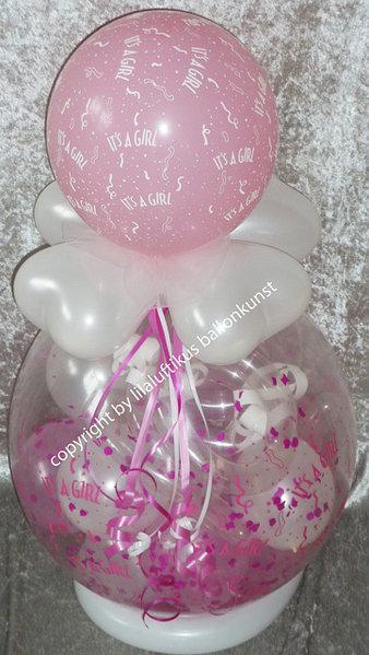 Geschenk Ballon Geburt Taufe Mädchen