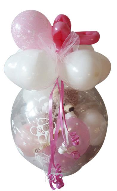 Geschenk Ballon Geburt Taufe Schnulli Mit Teddy Mädchen