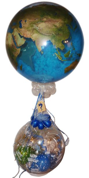 Geschenk Ballon Urlaub Reise Erde Welt Geburtstag Geldgeschenk