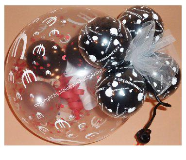 Geldbombe Luftballon Geldgeschenk Hochzeit Geburtstag Weihnachten