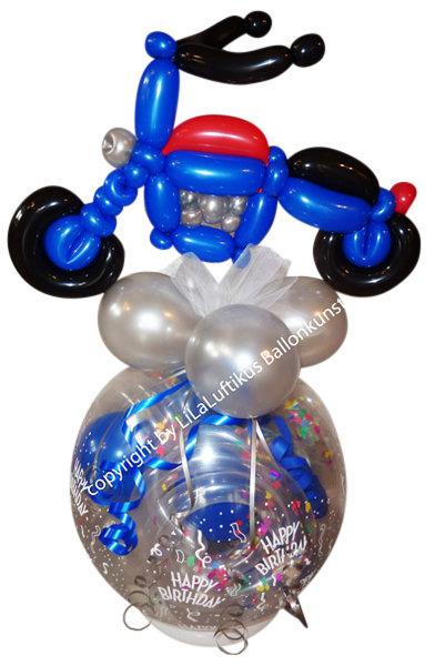 Motorrad Auf Ballon Geschenk Geburtstag Geldgeschenk