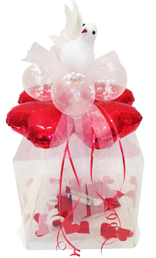 Geschenkbox Hochzeit Tauben Verpackung Geldgeschenk Gutschein