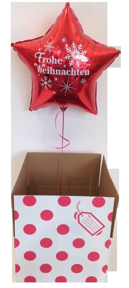 Geschenkkarton Weihnachten.Ballon Luftballon Frohe Weihnachten Im Karton