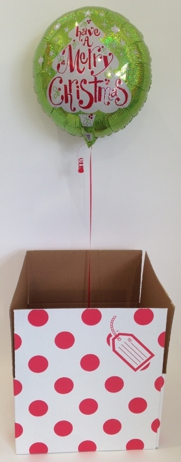 ballon merry christmas im karton luftballon im geschenkkarton. Black Bedroom Furniture Sets. Home Design Ideas