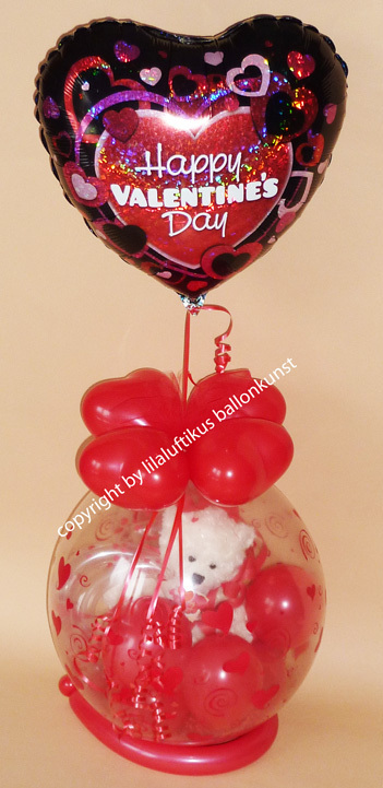happy valentinsday auf ballon ballongeschenk valentinstag. Black Bedroom Furniture Sets. Home Design Ideas