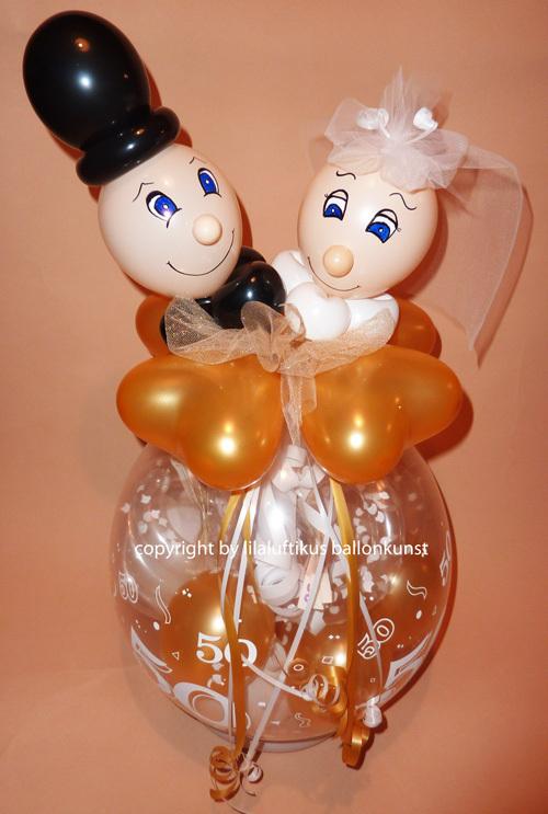goldhochzeit geschenk im ballon geschenkverpackung geldgeschenk. Black Bedroom Furniture Sets. Home Design Ideas