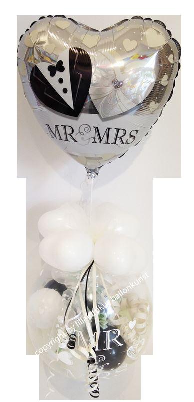 Geschenk Ballon Hochzeit Mr And Mrs Herz Geldgeschenk Verpackung
