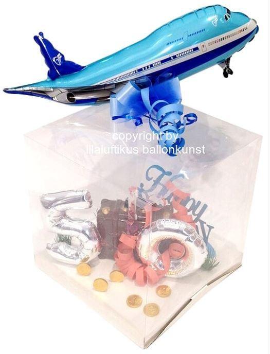 Geschenkbox Geburtstag Hochzeit Urlaub Flugreise Fliegen Flugzeug