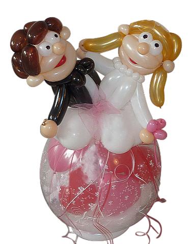 geschenkballon zur hochzeit geschenk im luftballon. Black Bedroom Furniture Sets. Home Design Ideas