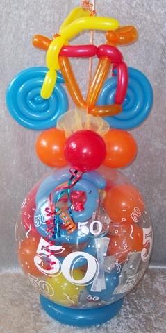 Verpackungsballon Geburtstag Mit Fahrrad Geschenk Im Ballon Geld