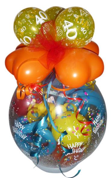 geschenk im ballon runder geburtstag ballongeschenk