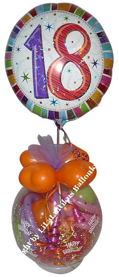 geschenk im ballon geburtstag mit zahl folie geschenkverpackung. Black Bedroom Furniture Sets. Home Design Ideas