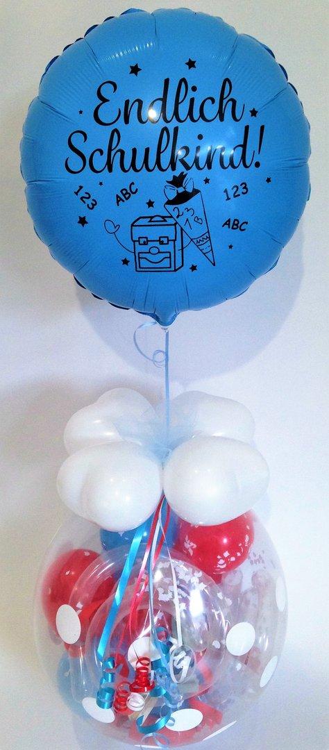 Schulanfang Einschulung Schultute Geschenk Im Ballon Verpackung