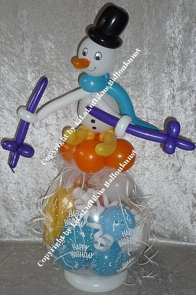 geschenkballon skifahrer aus ballons geburtstag ski geschenk. Black Bedroom Furniture Sets. Home Design Ideas