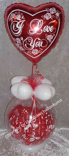Geschenkballon Valentinstag I Love You