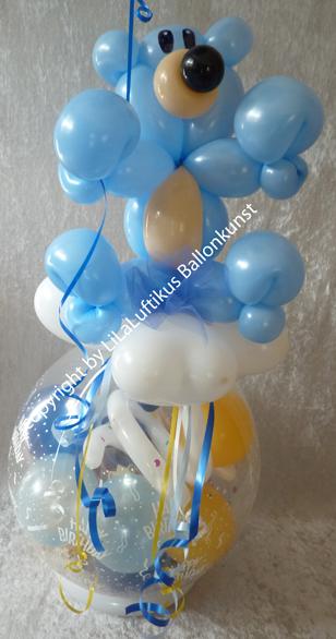 Taufe geburt geschenk im ballon geschenkverpackung geldgeschenk - Bastelideen zur taufe ...
