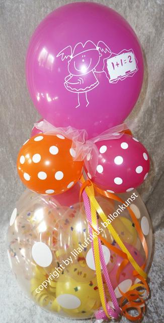 geschenk ballon schulanfang einschulung geschenk luftballon. Black Bedroom Furniture Sets. Home Design Ideas