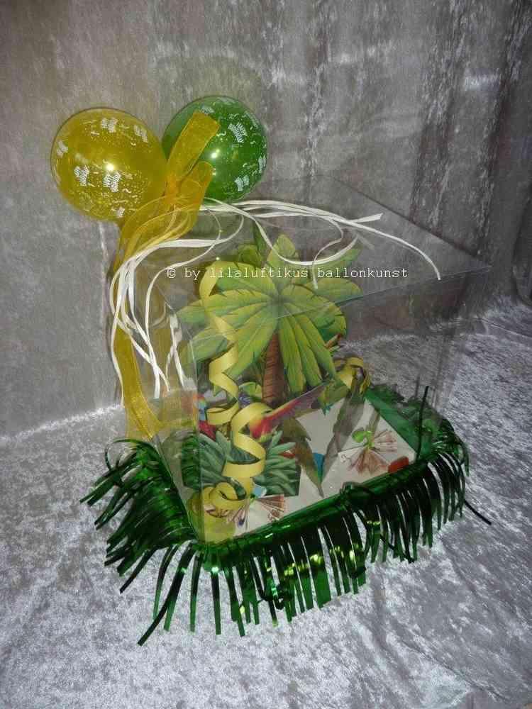 Geschenkbox Geburtstag Urlaub Palmen Strand Geschenk Geldgeschenk