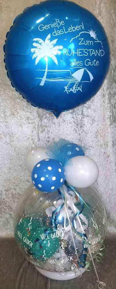 Ballongeschenk Rente Ruhestand Geschenk Geldgeschenk Luftballon