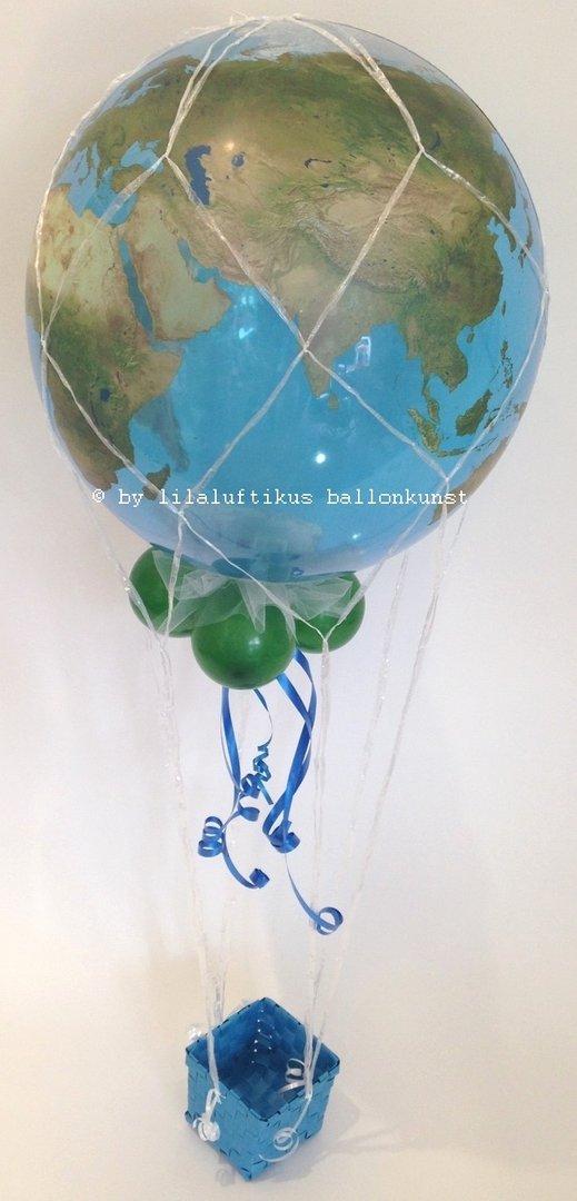 silberhochzeit geschenk im ballon luftballon geschenkverpackung. Black Bedroom Furniture Sets. Home Design Ideas