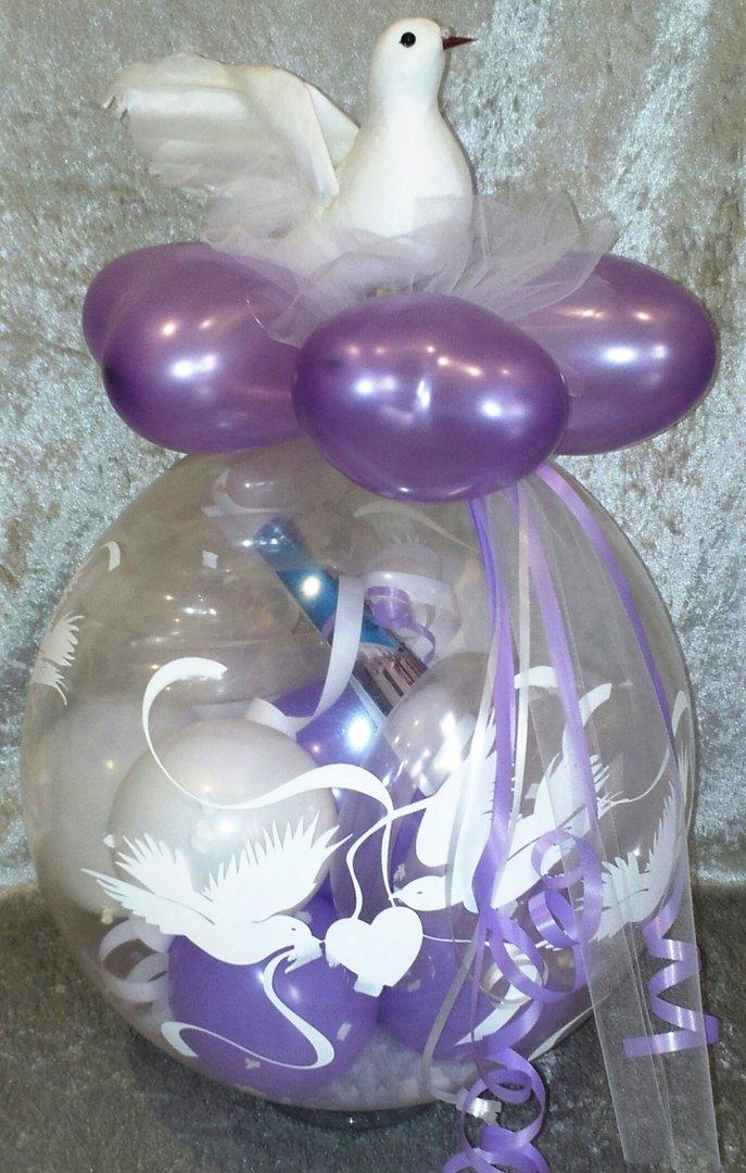 ballon hochzeit taube verschiedene farben geschenk im luftballon. Black Bedroom Furniture Sets. Home Design Ideas