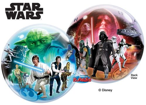 Bubble Ballon Star Wars,  56 cm, mit Dekoration