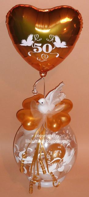Goldhochzeit Geschenk Im Ballon Geschenkverpackung Geldgeschenk