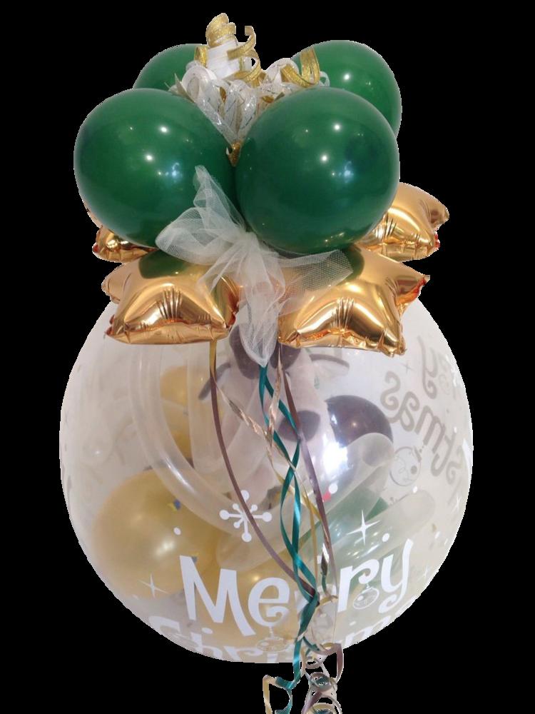 Ballongeschenk Merry Christmas Elch NICI Grußkarte Heliumballon