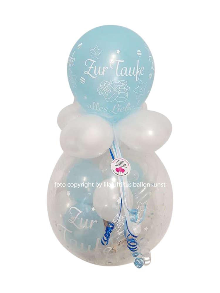 Geschenkballon Zur Taufe Junge Farbe Blau