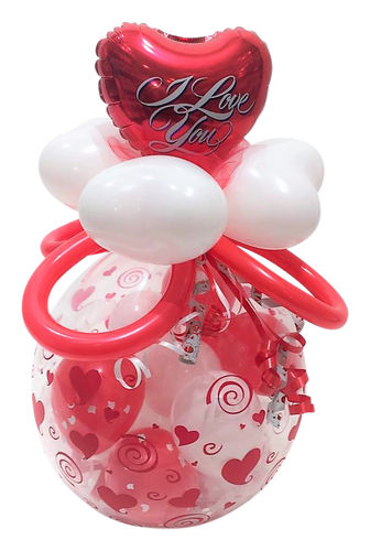 Ballon I love You Happy Valentinsday Ballongeschenk Valentinstag