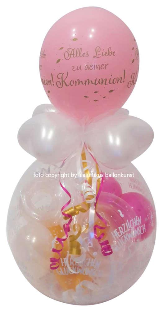 Geschenk Im Ballon Kommunion Madchen Geld Gutschein Verschenken