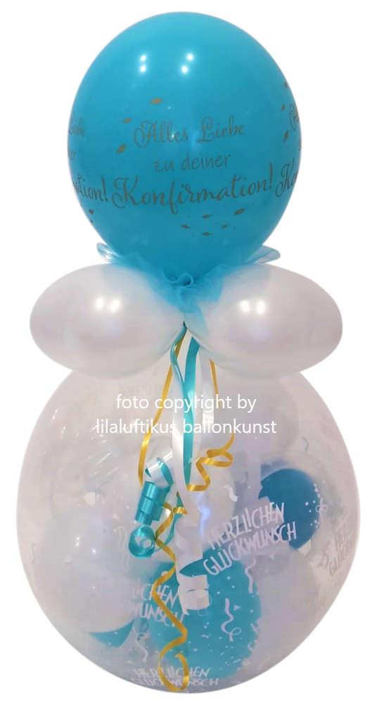 Geschenk Im Ballon Konfirmation Junge Blau Geld Gutschein Schenken
