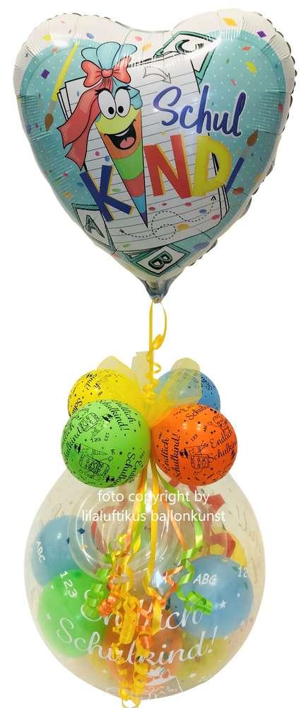 Einschulung Ballon Geschenk Schulanfang 1 Schultag