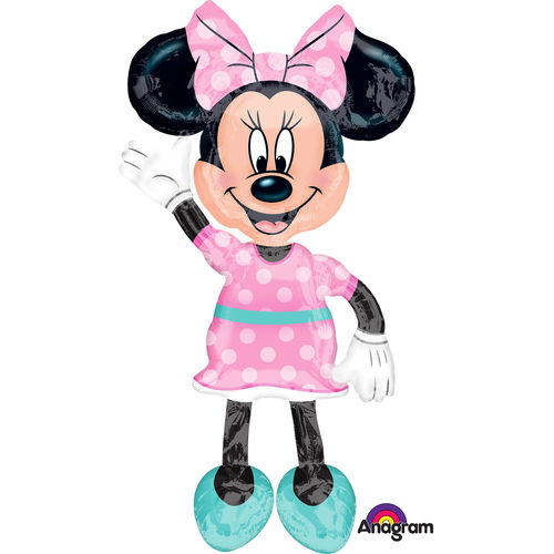 Minnie Mouse Maus Ballon Airwalker Helium Figur Disney 132cm